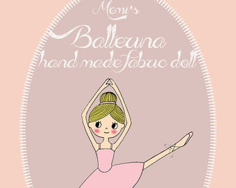 Ballerina hand made doll tutorial PDF ebook
