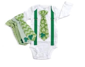 St Patrick's Day Baby Outfit. Baby Boy First Saint Patrick's Day. Boys Saint Patricks Day Shirt. Toddler boy. Newborn boy. Shamrock
