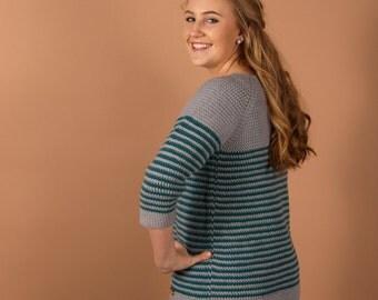 CROCHET PATTERN - Millburn Crochet pullover for women