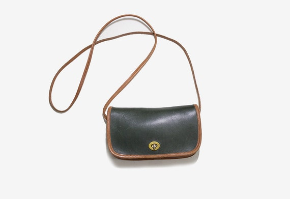 Vintage Mini Leather Bag / Two Tone Leather Purse / Mini Satchel / Satchel Purse / Mini Crossbody Purse