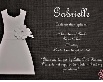 "Will You Be My Bridesmaid - The ""Gabrielle"" Design"