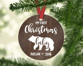 Personalized Christmas Ornament Baby Christmas Decorations Baby's First Christmas Ornament Baby Shower Gift Christmas Gift for Baby