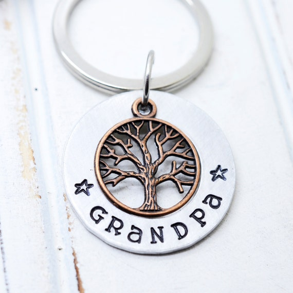 Christmas Gift for Dad, Gift for Dad From Kids, Papa Key Chain, Grandpa Key Chain, Family Tree Key Chain, Gift for Grandpa, Gift for Papa