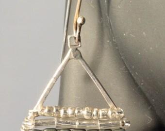 Seed Bead teardrop earrings