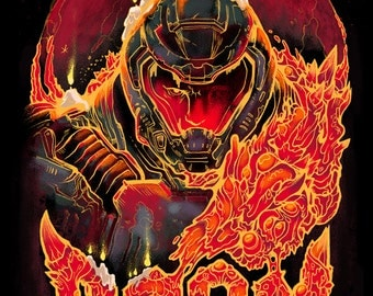 DOOM Video Game Poster Art