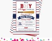 Baseball Baby Shower Invitations - Baseball Party Printable Invitation - Sports Party Digital Printable Invite - Boy Baby Shower Invitation