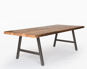 A Frame Table, Reclaimed Wood Table, Wood Office Table