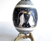 you are my penguine gift for my gay brother Christmas pysanka black and white Ukrainian Easter egg holiday gift engaged couple gift