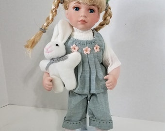 Vintage Doll with bunny