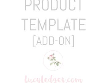Product template add on for a logo package