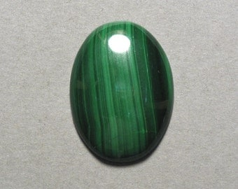 green MALACHITE oval cabochon 22X30mm designer cab