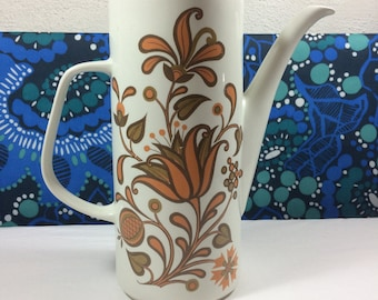 Vintage J & G Meakin Studio Lotus Coffee Pot Retro 60s 70s Jessie Tait Design