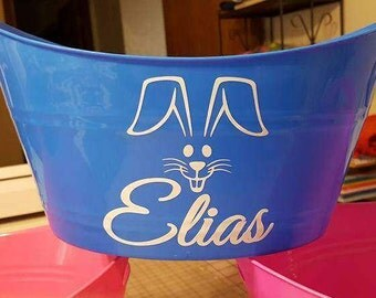 Easter Decal Personalized - DIY Easter Basket Decal - DIY Easter Bucket Kit - Personalized Decal - Personalized Vinyl Decal