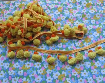 70s Yellow and Orange Tassel Trim
