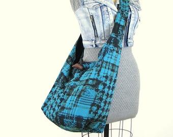 Large Crossbody Bag - Extra Large Tote Bag - Hobo Handbag - Gift for Vegan - Turquoise Bag - Hobo Bag for Women - Cross Shoulder Bag
