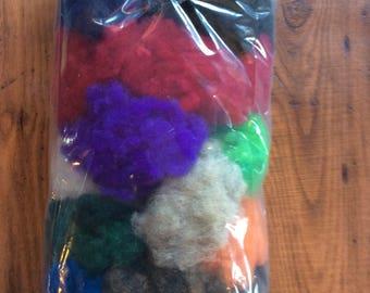 Wool Fiber - Fun Fiber - Bits and Pieces