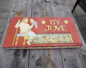 By Jove vintage 1983 1988 board game by Aristoplay a game and a book of classical adventure ready for your game night!