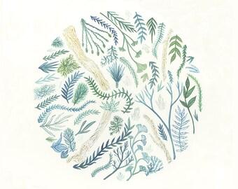 Garden Art // Original Painting // nursery art // Garden Study