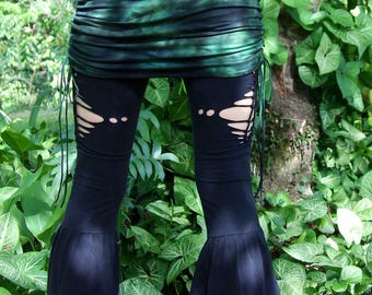RESERVED Size M/L Jumping Juniper Mini Skirt Hand Dyed Bamboo/Cotton Lycra