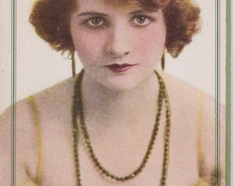 """1920's Ink  Blotter Flapper Lady Advertising  Barker Company Inc New Haven Conn """"Only the Best"""""""