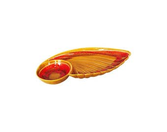 Large Mid Century Wing Shaped Serving Dish