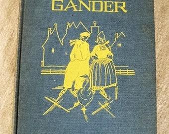 The Skating Gander a 1927 Children's Book for Nursery Decor / Beautiful Vintage Illustrations/Charming Vintage Children's Book