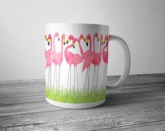 Flamingo Cup | Coffee Mug | Gift | Flamingo | Lawn Flamingo | Mingo | Lawn Ornament | Flamingo Mug