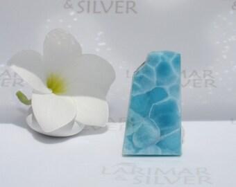 AAA Larimar slab from Larimarandsilver - Caribbean blue Larimar stone, london blue, turtleback, dolphin stone, Reiki handmade Larimar supply