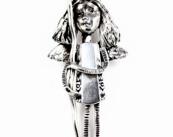 Sterling Meaningful Jewelry, Silver Inspirational Jewelry, Unusual Jewelry Gift For Women, Robin Wade, Angel Isabelle Is On A Journey, 2167