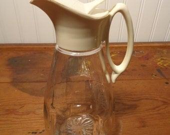 Vintage Glass Carafe Syrup Dispenser -  12-609