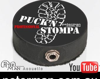 Puck'n Stompa PRO  acoustic Stomp box Stompbox hand made in Australia by Peterman Foot drum percussion and microphones
