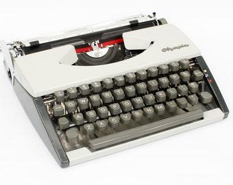 Vintage Olympia Typewriter Fully Serviced Working Typewriter White Typewriter