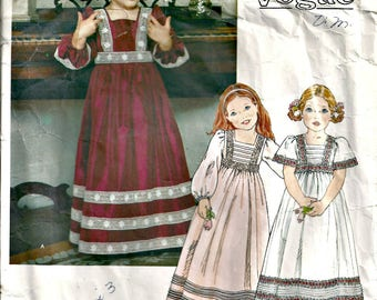 Little Miss Vogue Pattern 1800  Size 3 1980's Vintage Flower Girl Dress, Princess Costume, Girls Long Dress
