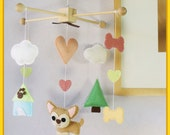 Dog Baby mobile, Pet Mobile , Puppy Nursery Mobile, Chihuahua Mobile Decor, Dog and Tree Mobile