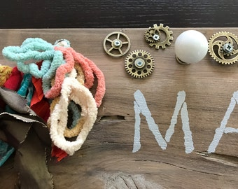 Personalized Baby Busy Board // Handmade, Non-Toxic, Sophisticated Design
