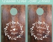 Cornhole Decals - Corn Hole Decals - Wedding Cornhole Decals - Wedding Corn Hole Decals - Custom Cornhole Decals - Custom Corn Hole Decals