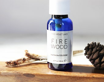 Firewood Cologne | Woodsy Unisex Cologne Spray | 100% natural and vegan