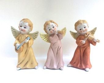 Vintage Ceramic Musical Angels Trio