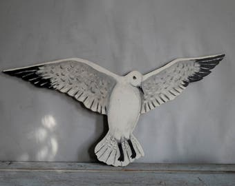 Folk Art Seagull Wall Hanging