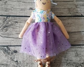 JeMi Doll - Blue hair, peach skin ballerina