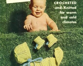 Star Book 96 BABY BOOK Crochet & Knitting Patterns 1950s 1953