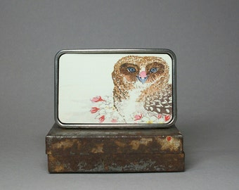 Belt Buckle Japanese Asian Owl and Cherry Blossom for Men or Women