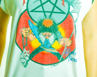 Vintage Motley Crue Tee 1980s Theatre of Pain 1985-1986 Concert shirt Band Tee ALLISTER FIEND Sleeveless Boho Rock Soft Paper Thin Metal