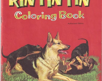 Vintage Rin Tin Tin and Rusty Coloring Book, 1959