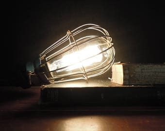 Vintage / Antique  Trouble Cage / McGill Safety Light Cage / Wire Cage / Steampunk Supplies / Lighting