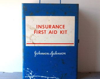 J&J First Aid Metal Box