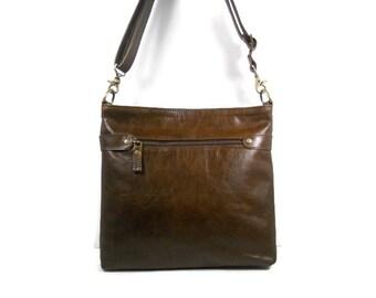 Leather Crossbody Bag, Brown Leather Hobo Bag, Black Leather Purse, Leather Shoulder Bag, Messenger Bag, Minimalist Bag, Made in USA