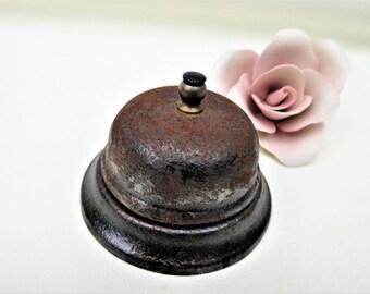 Vintage Hotel Bell | Service Bell | Metal Desk Bell | Counter Top Shop Bell
