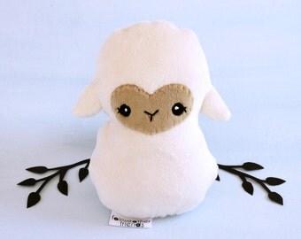 Lamb Plushie. Sheep Stuffed Animal, Lamb Softie, Little Lamb Toy, Minky Plush, Farm Animal Doll, Stuffed Toy Lamb, Gifts for Kids, Sheep Toy