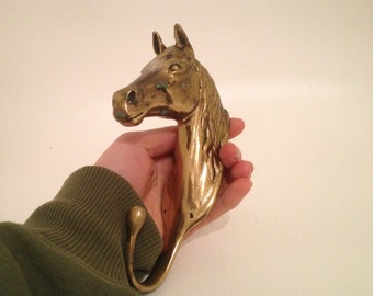 Brass Horse Saddle Hook for Wall or Door